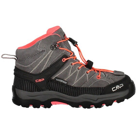 CMP Campagnolo Junior Rigel Mid WP Trekking Shoes Grey-Red Fluo